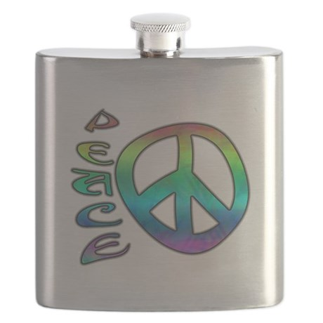 Rainbow Peace Flask