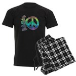 Rainbow Peace Men's Dark Pajamas