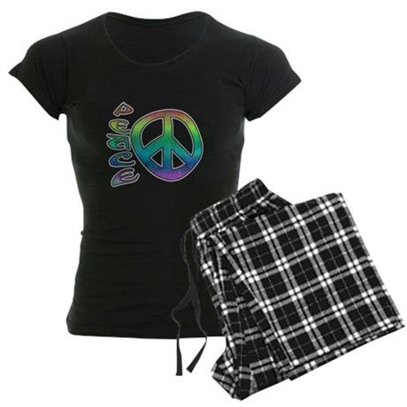 Rainbow Peace Women's Dark Pajamas