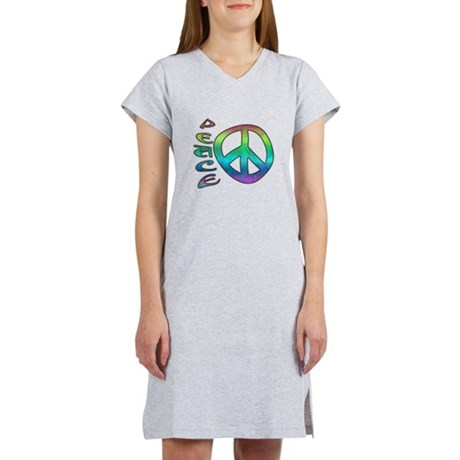 Rainbow Peace Women's Nightshirt