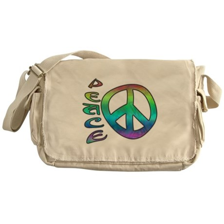 Rainbow Peace Messenger Bag