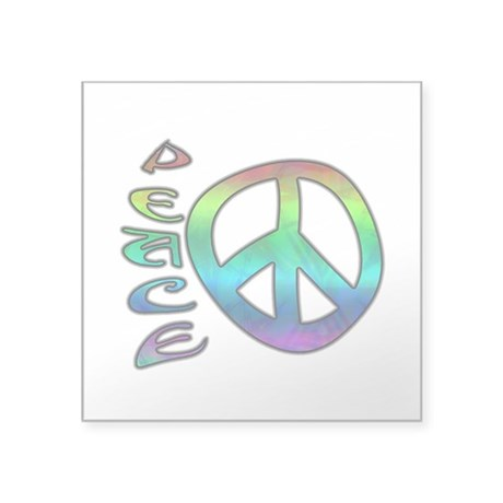 "Rainbow Peace Square Sticker 3"" x 3"""