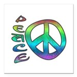 Rainbow Peace Square Car Magnet 3
