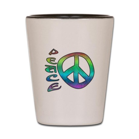 Rainbow Peace Shot Glass