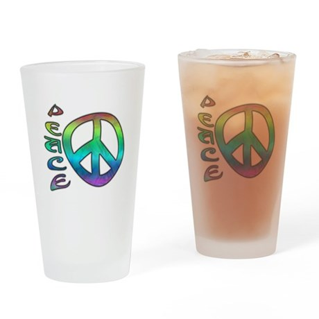 Rainbow Peace Drinking Glass