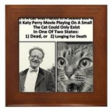 Drunk Schrodinger VS Katy Perry Movie Framed Tile