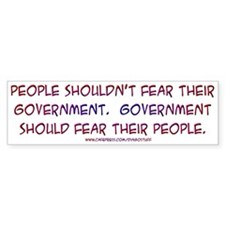 """Fear"" Bumper Bumper Sticker"
