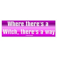 """Witch Way"" Bumper Bumper Sticker"