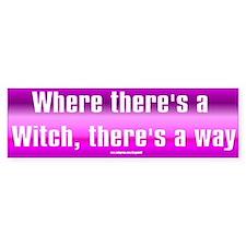 """Witch Way"" Bumper Bumper Sticker"