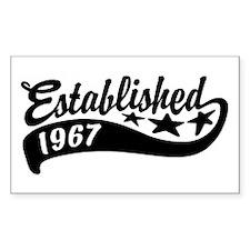 Established 1967 Decal