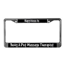 Pet Massage Therapist License Plate Frame
