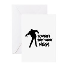 Zombies just want hugs Greeting Cards (Pk of 20)