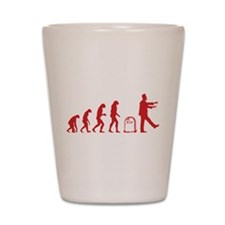 Evolution zombie Shot Glass
