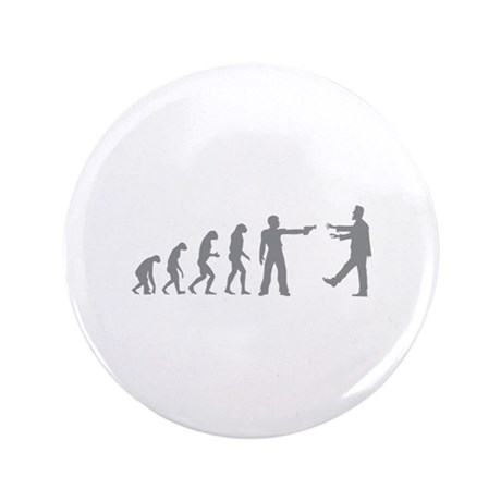 "Evolution of man vs zombie 3.5"" Button (100 pack)"