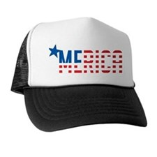 US Flag 'MERICA Trucker Hat