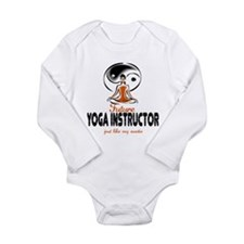 Cute Yoga class Long Sleeve Infant Bodysuit