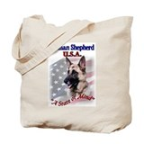 German Shepherd Gifts Tote Bag