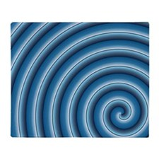 Blue Spiral Throw Blanket