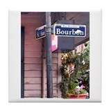 Bourbon Street Sign Tile Coaster