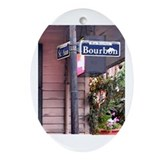 Bourbon Street Sign Oval Ornament