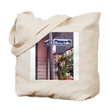 Bourbon Street Sign Tote Bag