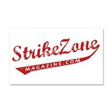 Strike Zone Logo with White Car Magnet 20 x 12