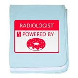 Radiologist Powered by Doughnuts baby blanket