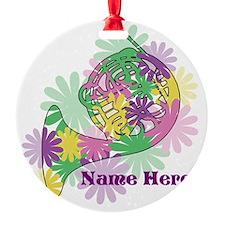 Custom Flower Horn Ornament