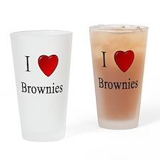 i love brownies heart magical magic Drinking Glass