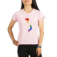 Vietnam Rainbow Pride Flag And Map Performance Dry
