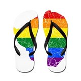 Zimbabwe Rainbow Pride Flag And Map Flip Flops