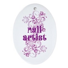 Nail Artist Gift Ornament (Oval)