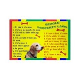 Cute Beagle dog breed Rectangle Magnet