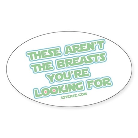 Star Wars Girl Geek Breasts Oval Sticker