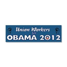 Union Workers For Obama 2012 Car Magnet 10 x 3