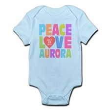 Peace Love Aurora Infant Bodysuit