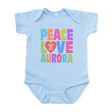 Peace Love Aurora Onesie