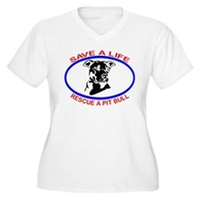SAVE A LIFE RESCUE A PIT BULL T-Shirt