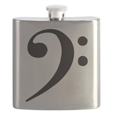 Flask w/ bass clef