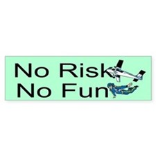 No Risk No Fun Car Sticker