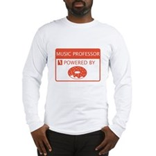 Music Professor Powered by Doughnuts Long Sleeve T