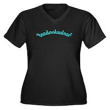 Beadonkadonk Women's Plus V-Neck Dark T-Shirt