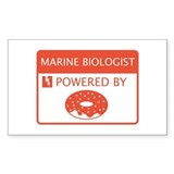 Marine Biologist Powered by Doughnuts Decal
