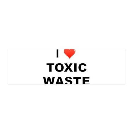 I Love Toxic Waste 20x6 Wall Decal