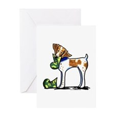 Brittany Camo Boots Greeting Card