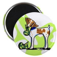 """Brittany Lime Camo 2.25"""" Magnet (10 pack)"""