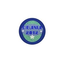 Blue Green Obama 2012 Mini Button (100 pack)