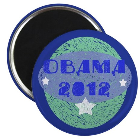 "Blue Green Obama 2012 2.25"" Magnet (100 pack)"