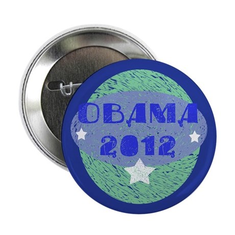 "Blue Green Obama 2012 2.25"" Button (100 pack)"