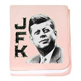 JFK Sketch baby blanket